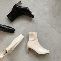 squaretoe heel boots (2color)