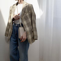 color check jacket [OU20SS313]