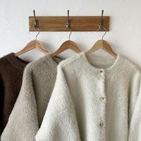 [original]shaggy knit 2way cardigan (3color)