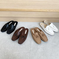 Loafer fringe slipper (4color)
