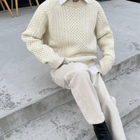 backschön cable knit (2color)[TOP20AW560]