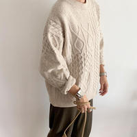 random cable knit tops  [TOP19AW0096]
