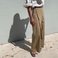 belt design wide pants[BT21SS749]