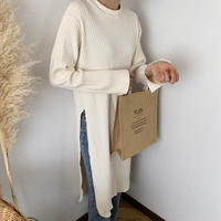 rib knit tunic (2color) [TOP20SS337]
