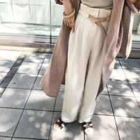 belt set linen tuck pants