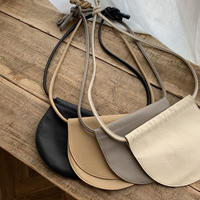 real leather half moon bag (4color)[BAG20SS388]
