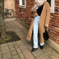 no color handmade wool coat