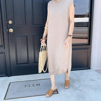 long knit sleeveless onepiece (2color)