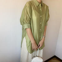 half sleeve sheer shirt (3color)[TOP20SS433]