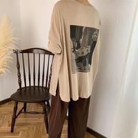 2way print long t-shirt (3color)  [TOP18SS-0070]