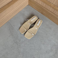 clear belt sandal