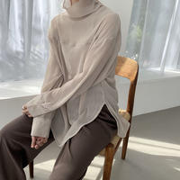 2way  highneck sier tops [TOP20AW516]