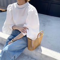 mockneck volume sleeve blouse  [SH20SS364]