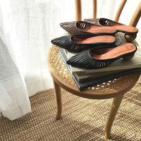 wood heel shoes (2color)