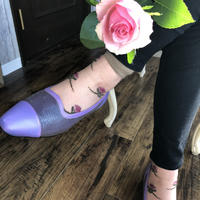 See-through  Socks (Pink Brown)