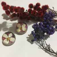 Clear Flower Earrings