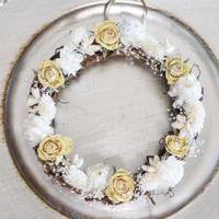 Couronne de fleurs séchées 【Blanc】/ ドライフラワーリース【ホワイト】