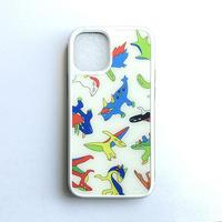 にせんちめんたる【03】恐竜総柄iPhoneケース 12mini