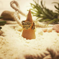 antique feather ring