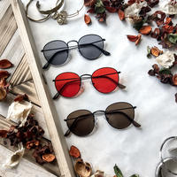 【5color】round metal sunglasses(53mm)
