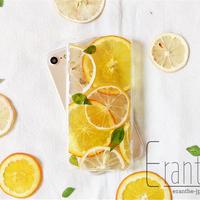 『 オレンジ&レモン 満載 』押しフルーツ スマホケース アイフォン iPhone 押し花 ケース