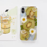 『キウイ&カモミール』押し花 ドライフラワー フルーツ スマホケース iPhone ケース  のコピー