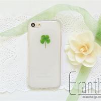 「四つ葉」シンプル 押し花 フルーツ スマホケース iPhone / Xperia / Galaxy / AQUOS