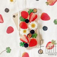 『 いちご 』押し花 ドライフラワー フルーツ スマホケース iPhone ケース