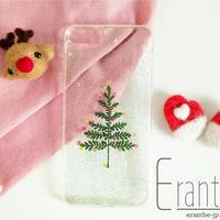 『クリスマスツリー』押し花 ドライフラワー スマホケース