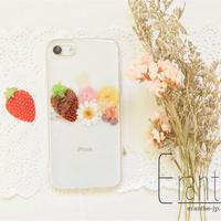 シンプル 押し花スマホケース / 押し花ケース / スマホケース / iPhone / Xperia / Galaxy