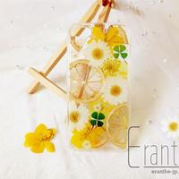 『レモン』押し花 ドライフラワー フルーツ スマホケース iPhone ケース