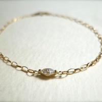 K18 diamond bracelet  #marquise
