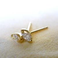 K18 diamond pierce #marquise