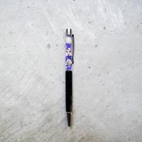 ハーバリウムペン  紫×白