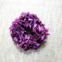 紫のあじさいリース【13cm】