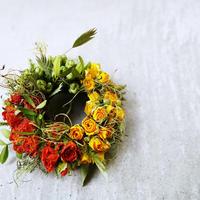 バラのミニリース【14cm】roses wreath