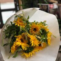 ヒマワリとリョウブ[季節のお花] ~marmelo配達便5/23-24AM