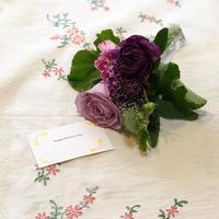 小さな季節の花束-blue-