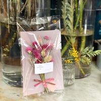 小さなドライフラワーの花束-pink-