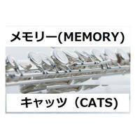【フルート楽譜】メモリー(MEMORY)~「キャッツ(CATS)」(フルートピアノ伴奏)