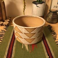 bkb ceramics Geometric planter ▼2▼ bkbセラミックス 幾何学模様 鉢 プランター