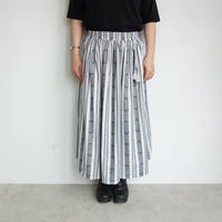 Slow Hands  Dobby stripe gather skirt