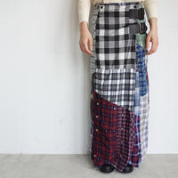 Rebuild by Needles Flannel shirt→Wrap skirt