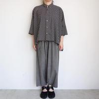 FACTORY  綿ドットカジュアル半袖シャツ
