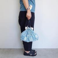 Suno & Morrison Cotton Silk Drawstring Bag L