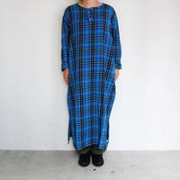 South2 West8 Henly Neck Shirt Dress - Plaid Twill (white / black / blue)