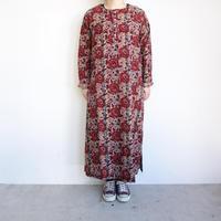 South2 West8 Henley Neck Shirt Dress - Batic Over Print