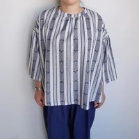 Slow Hands  Dobby stripe blouse