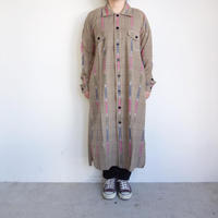 South2 West8 Smokey Shirt Dress - Ikat Windowpane