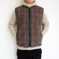Needles Sportswear w.u. piping vest - plaid knit jq.